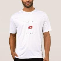 Sicily Italy Scuba Dive Flag T-Shirt