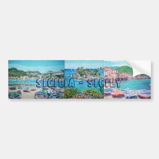 Sicily Landscapes - Bumper Stickers