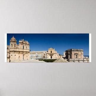 Sicily - Panorama of Noto poster