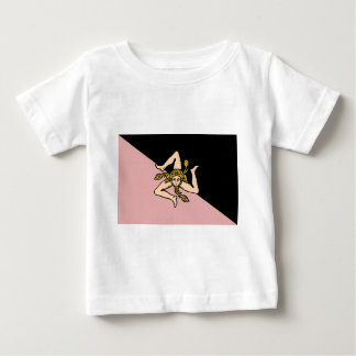 Sicily (Pink And Black), Italy flag Tees