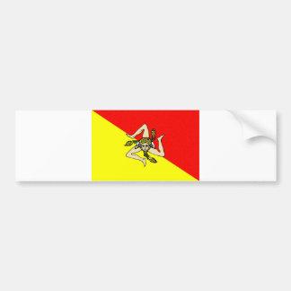 Sicily region flag italy sicilia county bumper sticker