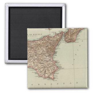 Sicily, Sardinia 2 Inch Square Magnet