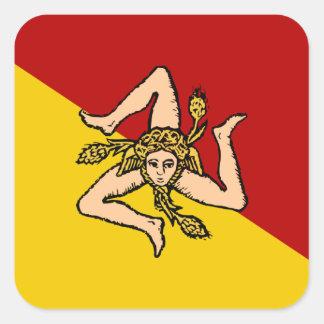 Sicily Square Sticker