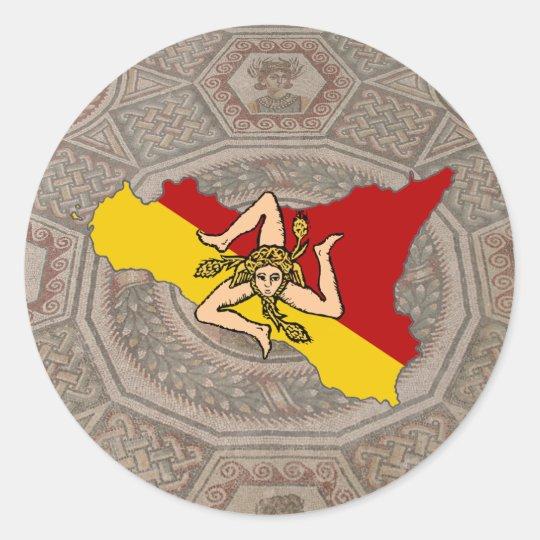 Sicily Trinacria Mosaic Sticker