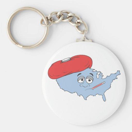 Sick America Key Chain