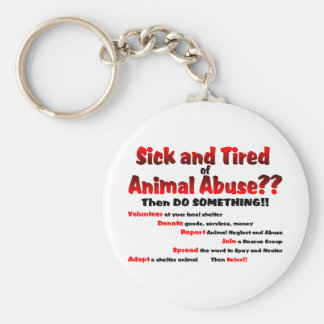 Sick and Tired Keychain