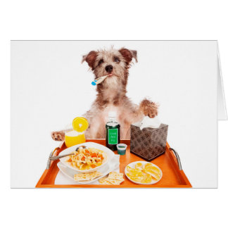 Sick as a Dog greeting card