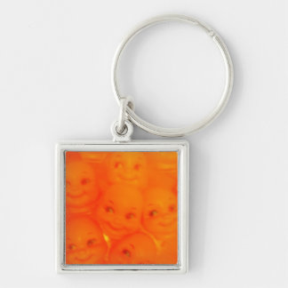 sick baby faces Silver-Colored square keychain