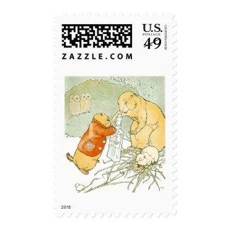 Sick Baby Prairie Dog Coughs Postage Stamp