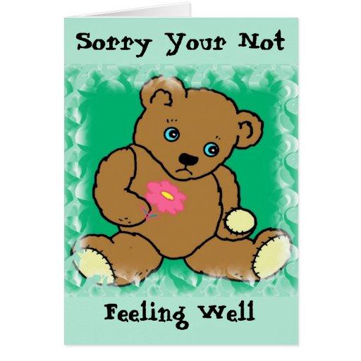 Sick Bear Card