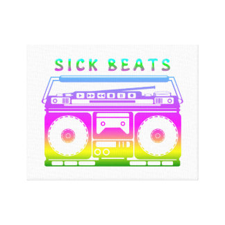 Sick Beats 80's Stereo Canvas Print