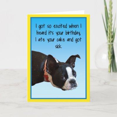 Funny Boston Terrier Dog Playing Guitar Art Card Zazzle