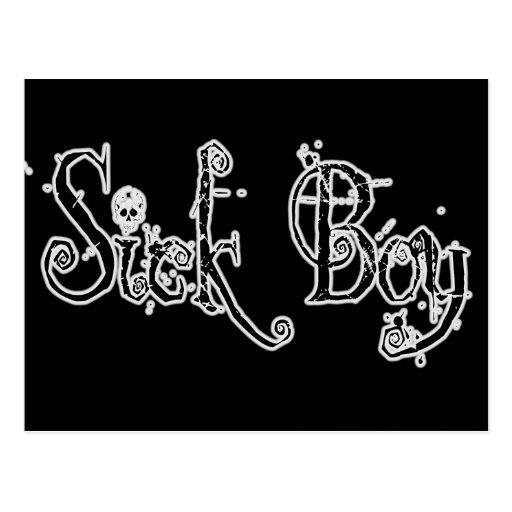 Sick Boy - B&W Postcard