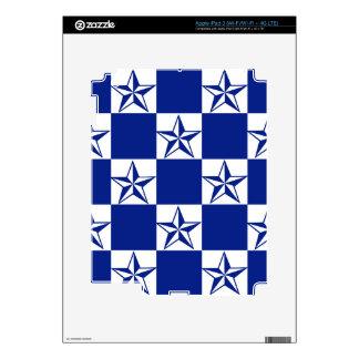 Sick Dark Blue Stars Decal For iPad 3