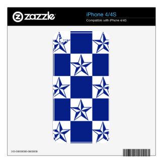 Sick Dark Blue Stars Skin For iPhone 4S