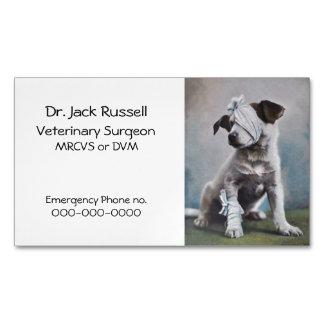 Sick dog small animal vet business card magnet