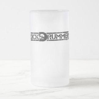 Sick Drummer Mugazine Frosted Beer Mug
