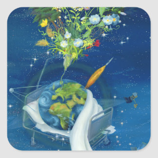 Sick Earth 2008 Square Sticker