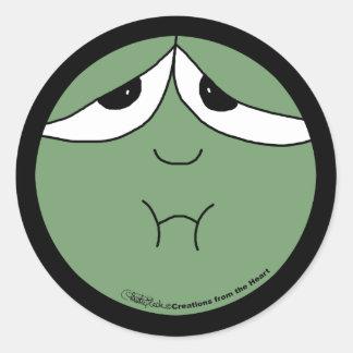 Sick Face Classic Round Sticker