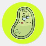Sick Germ Classic Round Sticker