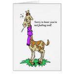 Sick Giraffe Card Cards