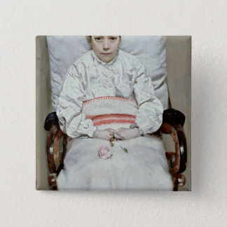 Sick Girl Pinback Button