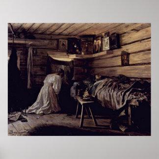 sick man by Maximov Vasily Maximovich Poster