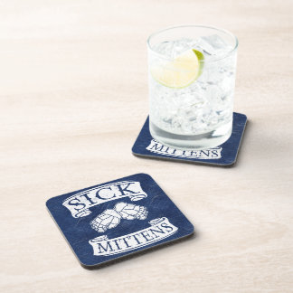 Sick Mittens Funny Hockey Slang Drink Coasters