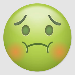 Sick face gifts on zazzle sick note emoji face classic round sticker thecheapjerseys Image collections