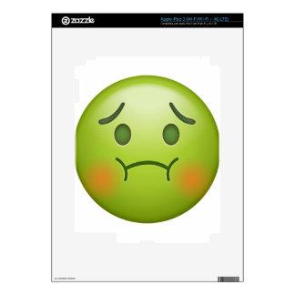 Sick note Emoji Face iPad 3 Decal