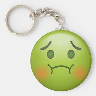 Sick note Emoji Face Keychain