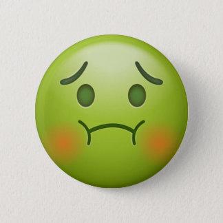 Sick note Emoji Face Pinback Button