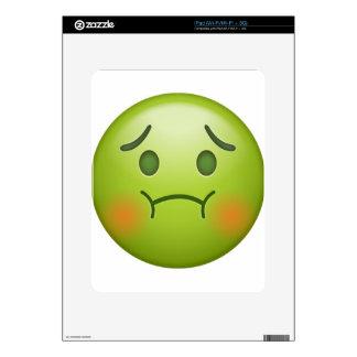 Sick note Emoji Face Skin For iPad