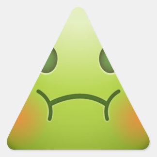 Sick note Emoji Face Triangle Sticker