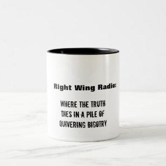 Sick of Right Wing radio? Two-Tone Coffee Mug