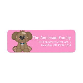 Sick Puppy Dog d2 Return Address Labels
