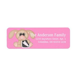 Sick Puppy Dog Return Address Labels