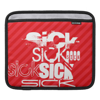 Sick; Scarlet Red Stripes iPad Sleeve