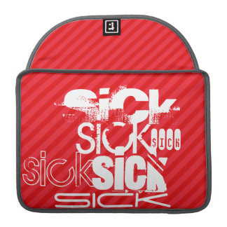 Sick; Scarlet Red Stripes MacBook Pro Sleeve