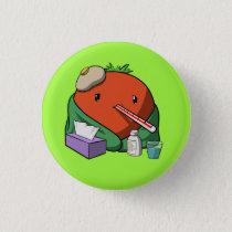 Sick Tomato Pinback Button