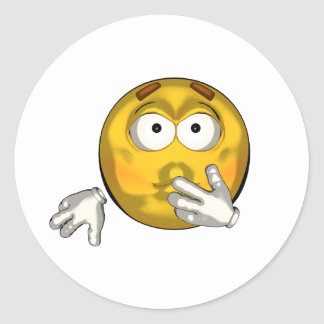 Sick - toon classic round sticker
