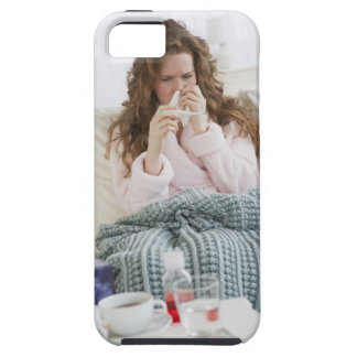 Sick woman on couch iPhone SE/5/5s case