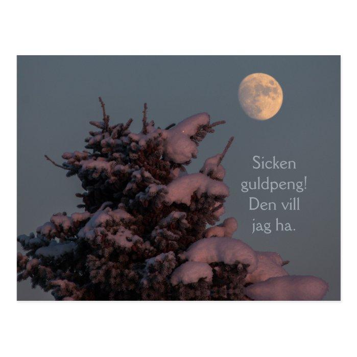 Sicken guldpeng! Grantrollet och månen CC0831 Postcard