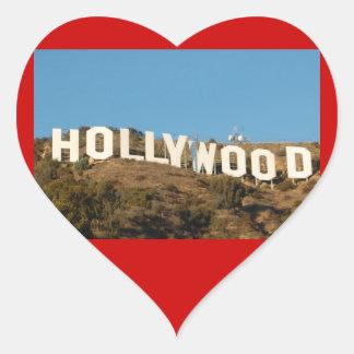 sickers de hollywood del amor pegatina en forma de corazón