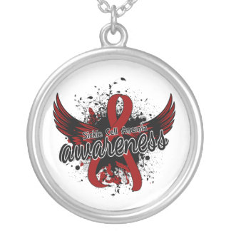 Sickle Cell Anemia Awareness 16 Round Pendant Necklace
