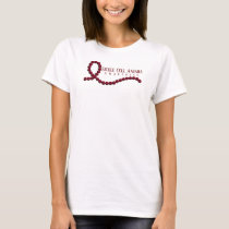 Sickle Cell Anemia Awareness Burgundy Ribbon T-Shirt