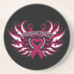 Sickle Cell Anemia Awareness Heart Wings Drink Coaster