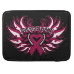 Sickle Cell Anemia Awareness Heart Wings MacBook Pro Sleeves