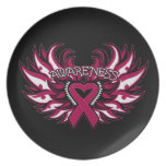 Sickle Cell Anemia Awareness Heart Wings Dinner Plate