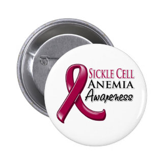 Sickle Cell Anemia Awareness Ribbon Button